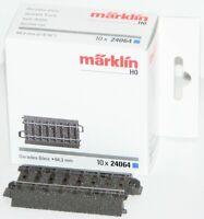 Märklin H0 24064-S C-Gleis gerade 64,3 mm (10 Stück) - NEU + OVP