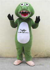 Adult Crocodile Alligator Fat Mascot Costume Suit Birthday Halloween Party Dress