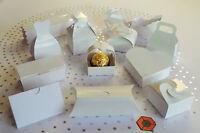 30 x Small White budget 💍Wedding favour boxes 💍~ GRAB A BARGAIN ~ £3.99  👀 ~