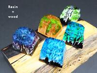 Handmade Keycap Resin + Wood Backlit Artisan Key Caps R4 For Cherry MX Keyboards