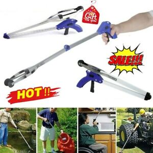 Grabber Pick Up Tool Extended Garbage Reaching Stick Trash Picker Folding Tools