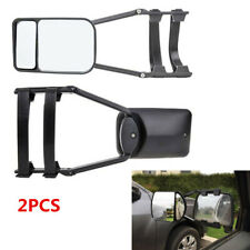 Adjustable Clip-On Towing Mirror For Trailer Safe Hauling Extension Universal