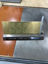 Very Large Celtic Knot Brass Master Template For New Hermes Engraver Font Tray