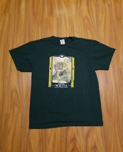 Green Bay Packers Reggie White Tshirt Green Size Large