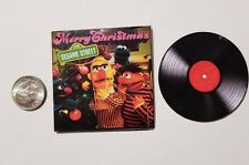 "Miniature record album Barbie  Playscale1/6  2""   Sesame Street Christmas"