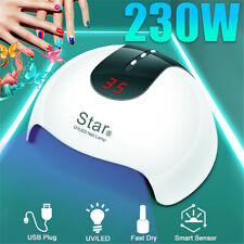 230W LED Nail Dryer UV Lamp Gel Nail Polish Fast Curing Light Timer Sensor Salon