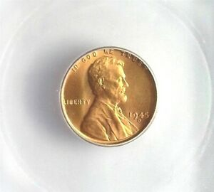1945-D LINCOLN CENT ICG MS 66+ RED