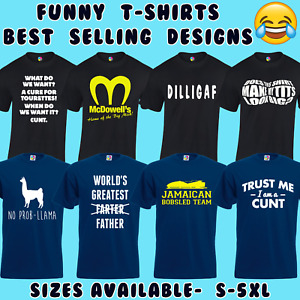 FUNNY MENS T SHIRT JOKE NOVELTY TEE RUDE DESIGN GIFT FOR HIM DAD NEW S - 5XL