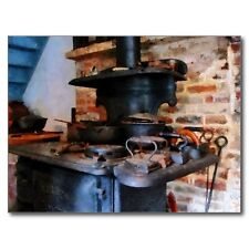 """*Postcard-""""Irons Heating/Warming On The Stove"""" ...Ready To Use-  (A-53)"""