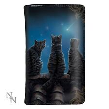 NEW LISA PARKER PURSE WALLET WISH UPON A STAR black cats  Nemesis