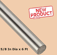 Stainless Steel Solid Round Stock 58 X 6 Ft 304 Unpolished Rod 72 Length New