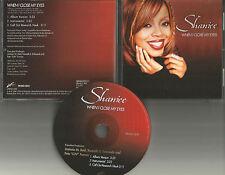 SHANICE When I close My eyes 3TRX w/ RARE INSTRUMENTAL 3TRX PROMO DJ CD Single
