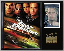 """FAST AND THE FURIOUS LTD Edition Reproduction Signed Movie Script Display """"C3"""""""