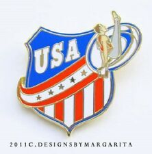 NEW! USA Men's Red/White/Blue Gymnastics Pin - #1949