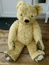 """ANTIQUE VERY LARGE 30"""" GOLD MOHAIR JOINTED STEIFF ?? TEDDY BEAR"""