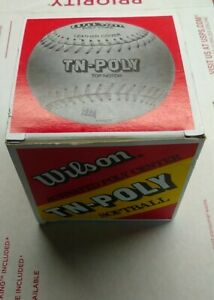 Wilson A9061 TN-Poly Core Leather Softball VINTAGE NOS #78