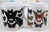 Wondermugs Butterflies Magic Mug - Color Changing Mug - Coffee Mug - 11oz size