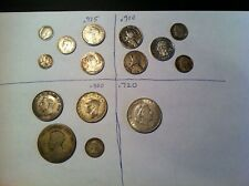 Collector Silver Coin Lot, 3 Ounces ASW, World and US Coins, 1900's three