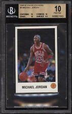 BGS 10 PRISTINE 1990-91 Panini Stickers #K MICHAEL JORDAN Chicago Bulls HOF RARE