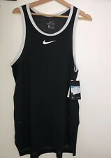 Nike Breathe Men's Basketball Dry Miler Tank Cool Vest Top Dri-Fit  SAMPLE MED