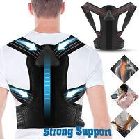 Men Women Adjustable Straightener Shoulder Posture Corrector Support Brace Belt