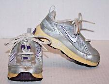 Nike T-Run 4 Gray Purple Toddler Girl's Sneakers Shoes Size 8C FREE Shipping!!