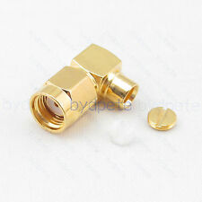 RP-SMA male right angle 90degree connector female pin for RG402 Semi Rigid Cable