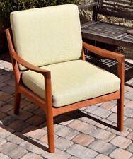 Lounge Chair France & Son Senator neu aufgepolstert/bezogen Teak Ole Wanscher