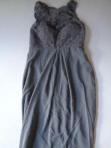 After Six Bridesmaid Formal Occasion Dress 6722 Charcoal Gray See Measurements