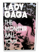LADY GAGA - LEOPARD MONSTER BALL TOUR 2011 GLOSSY WALL POSTER NEW OFFICIAL 26X38
