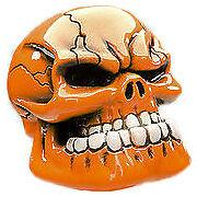 Orange Flake Jaw Custom Gearstick Skull Resin Gear Knob Stick Hotrod Ford GM
