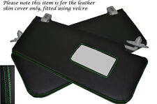 GREEN STITCH FITS MERCEDES E CLASS W211 02-08 2X SUN VISORS LEATHER COVERS ONLY