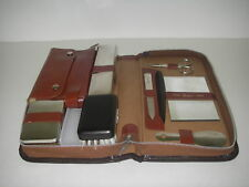 Men's Travel Grooming Kit Leather Zipper Case & Content Griffon W Germany VANITY