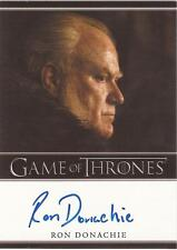 "Game of Thrones Season 3 - Ron Donaghie ""Rodrik Cassel"" Autograph Card"