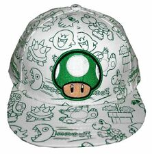 Nintendo 1UP MUSHROOM Mario Youth Hat Velcro Adjustable Boys Girls Baseball Cap