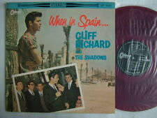 RED VINYL / CLIFF RICHARD THE SHADOWS WHEN IN SPAIN / 60'S LAMINATED FLIP BACK C