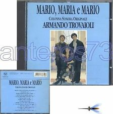 "ARMANDO TROVAIOLI ""MARIO, MARIA E"" RARE CD OST 1993"