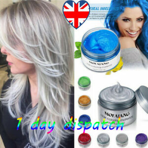 Temporary instant Washout Hair 6 Colour Unisex Hair Color Wax Mud Dye Xmas Gift