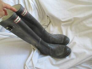 HUNTER Original Tall Rain Boots BROWN  Size 6M/7F EU 38 ~ Pre-owned 7M