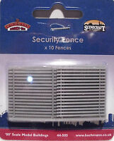 Bachmann 44-505 -10 x 32mm Security Fencing Grey Plastic OO Gauge 1st Class Post