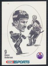 1986-87 Kraft Sports Hockey Card Glenn Anderson