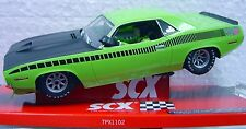 SCX 64380 TRANS AM LIME GREEN CUDA 1970 LIMITED EDITION SERIAL # 1/32 SLOT CAR
