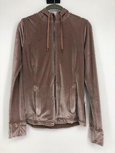 Lululemon Womens Define Hooded Jacket Velvet Size 8 Brand New Pink Full Zip