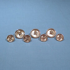 Blazer Buttons 7-Piece Set Solid 14K Yellow Gold