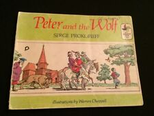 Rare Vintage Peter and The Wolf Paperback Book Pinwheel 1973 Serge Prokofieff