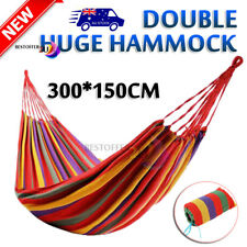 150*300cm Double Cotton Fabric Hammock Air Chair Hanging Swinging Camping 200KG