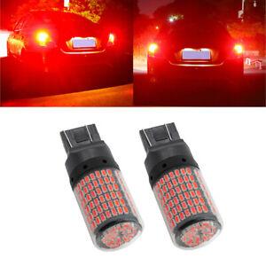 2X Red 7440 7443 T20 LED 144SMD Car Backup Lamp Brake Parking Tail Light Bulbs