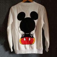 Women Ladies Mickey Mouse Pullover Jumper Hoodie Long Sleeve Coat Sweatshirt Top