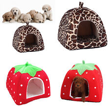 Soft Pet Dog Cat Bed House Kennel Doggy Puppy Warm Cushion Basket Pad Mat S-XL