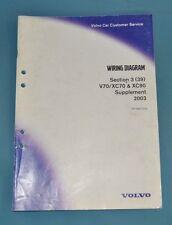 2003 Volvo V XC 70 XC90 Service Shop Repair Manual Wiring Diagrams Supplement
